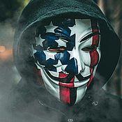 Головные уборы ручной работы. Ярмарка Мастеров - ручная работа Маска Вендетта Американский Флаг American Style. Handmade.