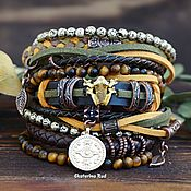 Украшения handmade. Livemaster - original item Multi-layer bracelet in the style of BOHO