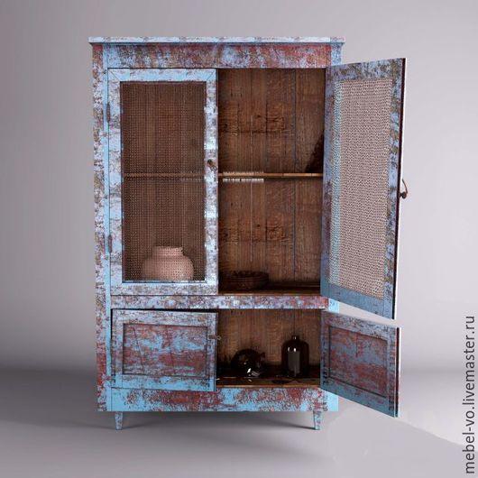Мебель ручной работы. Ярмарка Мастеров - ручная работа. Купить Шкаф с эффектом состаривания. Handmade. Старый шкаф, лофт
