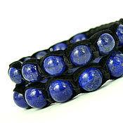 Украшения handmade. Livemaster - original item Set of Bracelets Shambala suede with a stone lapis lazuli. Handmade.