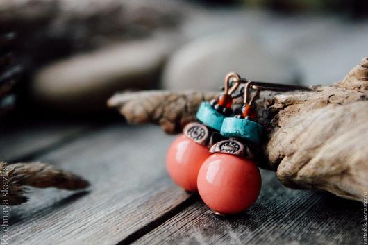 Серьги ручной работы. Ярмарка Мастеров - ручная работа. Купить Мальдивы -серьги. Handmade. Бордовый, ягоды, малиновый, серьги, подарок