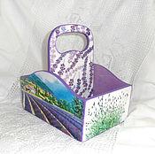 Для дома и интерьера handmade. Livemaster - original item Box for spices Lavender. Handmade.
