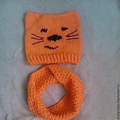 Аксессуары ручной работы. Ярмарка Мастеров - ручная работа Комплект Рыжий кот. Handmade.