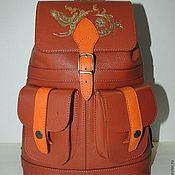 """Сумки и аксессуары ручной работы. Ярмарка Мастеров - ручная работа Рыжий кожаный рюкзак """"Карри"""". Handmade."""
