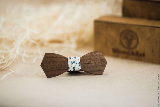 Галстуки, бабочки ручной работы. Ярмарка Мастеров - ручная работа. Купить Деревянная галстук- бабочка. Handmade. Васильковый, подарок
