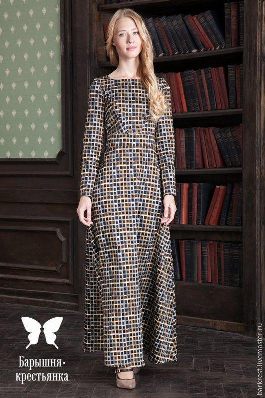 Платья ручной работы. Ярмарка Мастеров - ручная работа. Купить Флорентийская мозаика. Handmade. Комбинированный, платье для церкви, хлопок