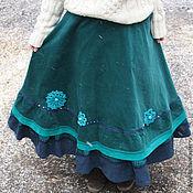 """Одежда ручной работы. Ярмарка Мастеров - ручная работа Юбка """"Бирюзовая с синим"""". Handmade."""