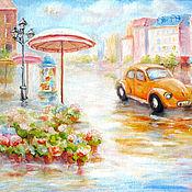 """Картины и панно ручной работы. Ярмарка Мастеров - ручная работа Картина """"Ретро автомобиль"""" бесплатная доставка. Handmade."""