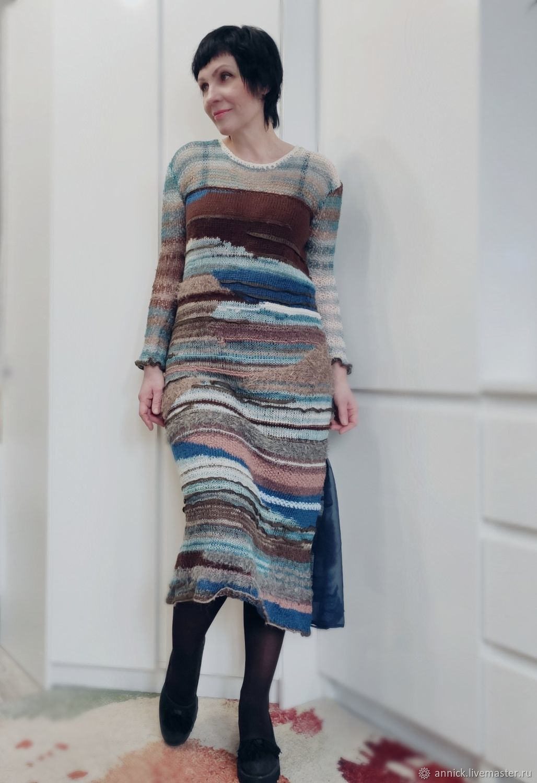 Вязаное разноцветное платье, Платья, Москва,  Фото №1