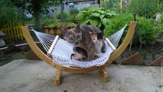 Аксессуары для кошек, ручной работы. Ярмарка Мастеров - ручная работа. Купить Гамак со стойкой для кошки. Handmade. Гамак, для хорьков
