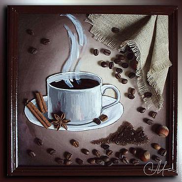 Картины и панно ручной работы. Ярмарка Мастеров - ручная работа «Подвешенный кофе». Handmade.