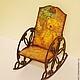 """Кукольный дом ручной работы. Ярмарка Мастеров - ручная работа. Купить Кресло-качалка """"Старая игрушка"""". Handmade. КРЕСЛО-КАЧАЛКА"""