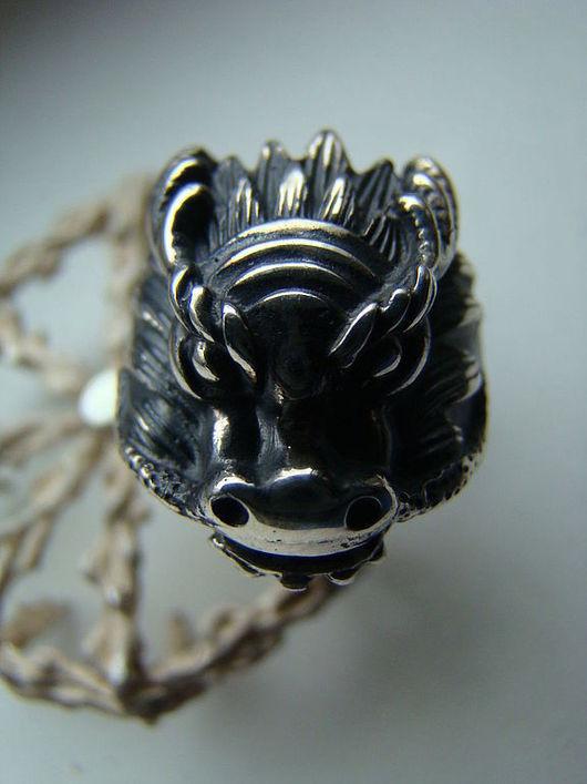 """Кольца ручной работы. Ярмарка Мастеров - ручная работа. Купить Кольцо """"Голова дракона"""". Handmade. Серебряный, серебро"""