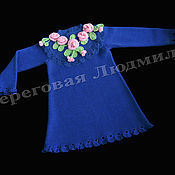 Работы для детей, ручной работы. Ярмарка Мастеров - ручная работа Платье для девочки вязаное. Handmade.
