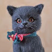 Куклы и игрушки ручной работы. Ярмарка Мастеров - ручная работа Британский котик игрушка валяная. Handmade.