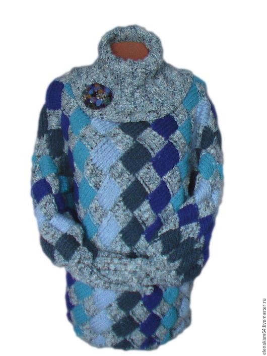 Кофты и свитера ручной работы. Ярмарка Мастеров - ручная работа. Купить свитер вязаный мозаика. Handmade. Свитер, шерстяной свитер