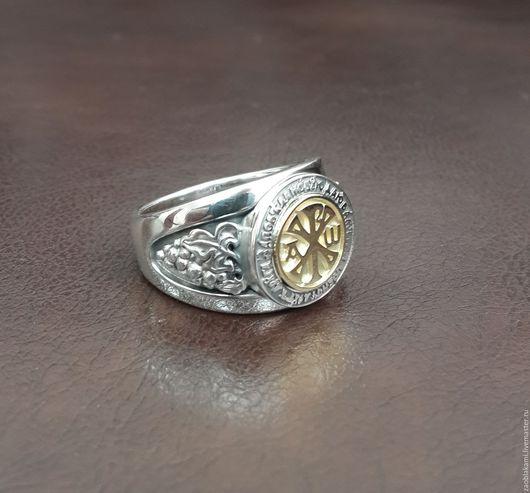 """Кольца ручной работы. Ярмарка Мастеров - ручная работа. Купить Перстень """"Хризма"""". Handmade. Серебряный, кольцо охранное, христианство"""