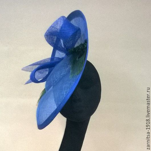 Шляпы ручной работы. Ярмарка Мастеров - ручная работа. Купить Летняя шляпка из синамей. Handmade. Тёмно-синий, солома, шляпа