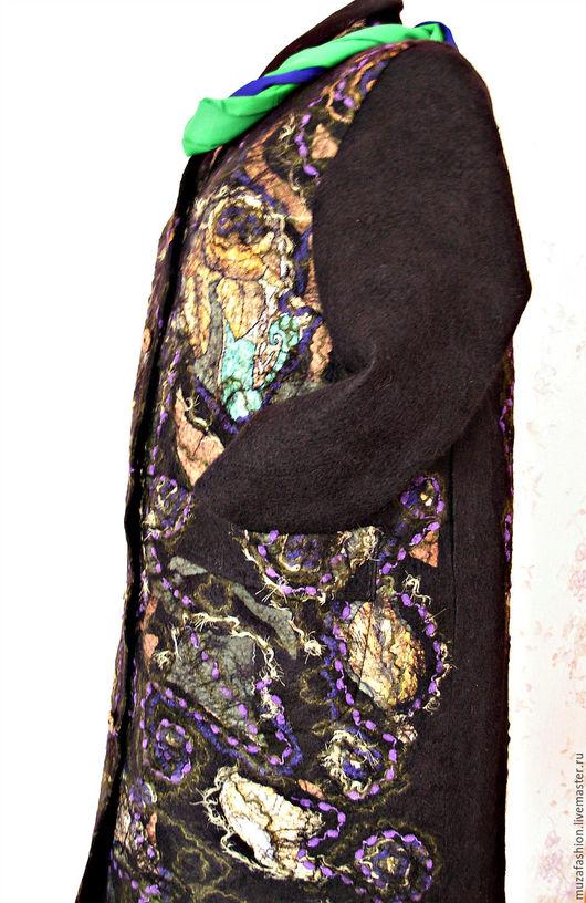 """Верхняя одежда ручной работы. Ярмарка Мастеров - ручная работа. Купить Валяное женское пальто """"Хозяйка Медной горы"""". Handmade."""