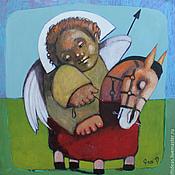 Картины и панно ручной работы. Ярмарка Мастеров - ручная работа Ангел-хранитель. Handmade.