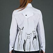Одежда handmade. Livemaster - original item Asymmetrical shirt women, Summer cotton shirt - TP0127CT. Handmade.