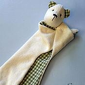 Куклы и игрушки ручной работы. Ярмарка Мастеров - ручная работа Комфортер. Первая игрушка малыша-Мишка.. Handmade.