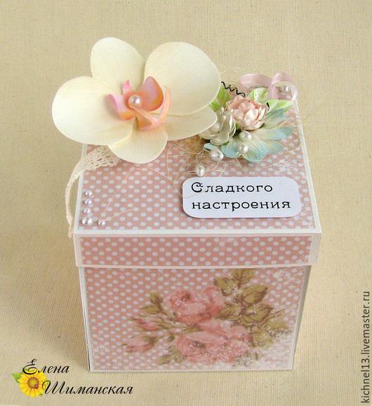 """Персональные подарки ручной работы. Ярмарка Мастеров - ручная работа. Купить Magic Box """"Секреты Орхидеи"""". Handmade. Бледно-розовый"""