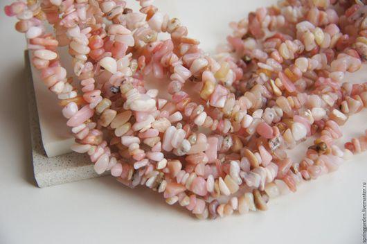 Для украшений ручной работы. Ярмарка Мастеров - ручная работа. Купить Опал розовый , крошка. Handmade. Опал, маленькие бусины