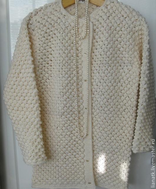 """Кофты и свитера ручной работы. Ярмарка Мастеров - ручная работа. Купить Кардиган """"А снег идет..."""". Handmade. Белый"""