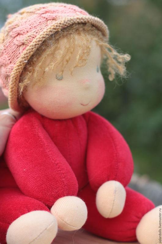 Вальдорфская кукла ручной работы. Серёжик 32  см. SolarDolls, (Julia Solarrain)