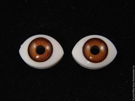 """Куклы и игрушки ручной работы. Ярмарка Мастеров - ручная работа. Купить 12х17мм Глаза кукольные (карие) 2шт. """"1672"""". Handmade."""