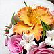 Букеты ручной работы. Свадебный букет с розами, гибискусом и пионом.. Flor-ina handmade (Ирина). Ярмарка Мастеров. Букет невесты