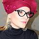 """Шляпы ручной работы. Ярмарка Мастеров - ручная работа. Купить Шляпка """" Фантазия"""" Войлок. Handmade. Бордовый, шерсть меринос"""