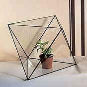 Цветы и флористика handmade. Livemaster - original item The Floriana Octahedron large. Geometric vase for Floriana. Handmade.