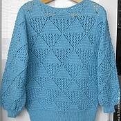 """Одежда ручной работы. Ярмарка Мастеров - ручная работа Пуловер """"Бирюза"""". Handmade."""
