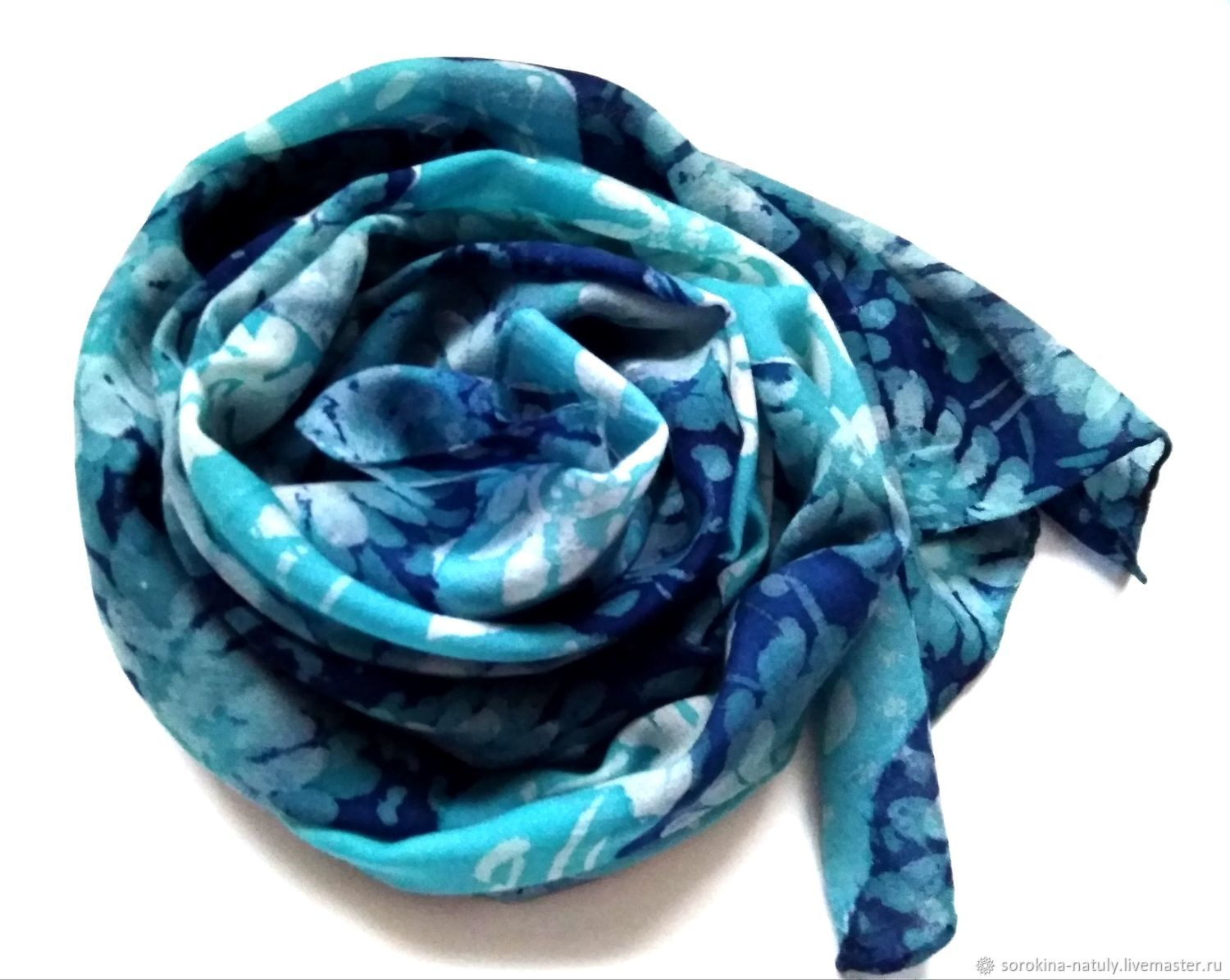 Cashmere scarf 'my chrysanthemums' women's scarf, Scarves, Moscow,  Фото №1