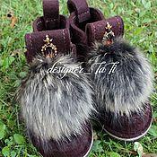 """Обувь ручной работы. Ярмарка Мастеров - ручная работа Валенки, модель """"Шоколадная корона"""". Handmade."""