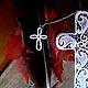 """Закладки для книг ручной работы. Ярмарка Мастеров - ручная работа. Купить Закладка для книг """" Крест кружевной. Вариант 2"""".. Handmade."""