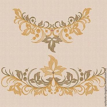 """Материалы для творчества ручной работы. Ярмарка Мастеров - ручная работа Дизайны машинной вышивки набор """"Осенний вальс"""" bt038. Handmade."""