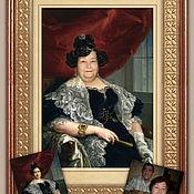 Картины и панно ручной работы. Ярмарка Мастеров - ручная работа Фото в картине. Женский портрет. Handmade.