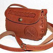 """Классическая сумка ручной работы. Ярмарка Мастеров - ручная работа Кожаная сумочка  """"Айно"""" - рыжая. Handmade."""