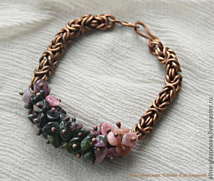 Плетение браслетов из каменной крошки