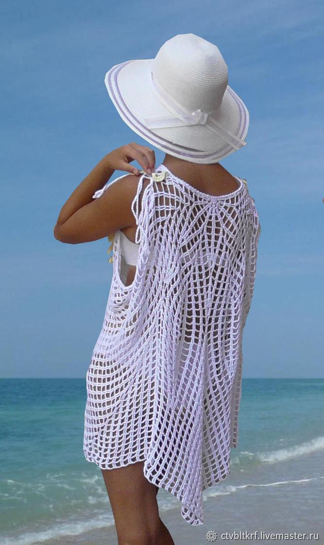 Вязание крючком пляжные туники схемы и фото
