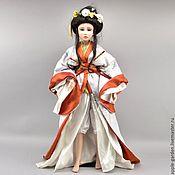 Редкая коллекционная фарфоровая кукла Brigitte fon Messner. 80 см