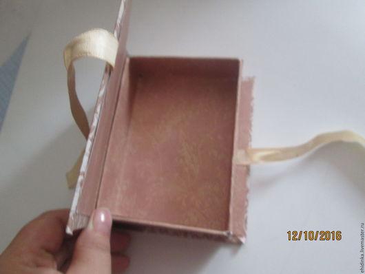 Шкатулки ручной работы. Ярмарка Мастеров - ручная работа. Купить шкатулка-книжка. Handmade. Бежевый, шкатулка для украшений, бумажная упаковка