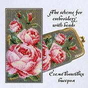 Материалы для творчества handmade. Livemaster - original item The scheme for embroidery with beads Roses. Handmade.