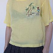 Одежда ручной работы. Ярмарка Мастеров - ручная работа Блузка из батиста,ярко желтого цвета. Handmade.