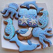 Сувениры и подарки handmade. Livemaster - original item Set of gingerbread Dreams of the sea.. Handmade.