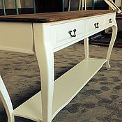 Для дома и интерьера handmade. Livemaster - original item 16. Table on curved legs and waxed top. Handmade.