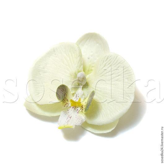 Заколки ручной работы. Ярмарка Мастеров - ручная работа. Купить Головка орхидеи из ткани очень натуральная для заколок DF112-161. Handmade.